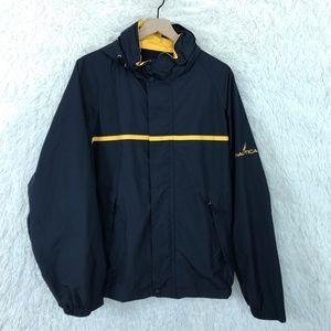 Windbreaker Rain Jacket Vintage 90s Blue Nautica